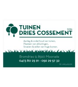 Tuinen Dries Cossement Moorsele · Xtrema Reclamebureau - Webdesign Harelbeke - Websites Kortrijk - Xtrema Webdesign - West-Vlaanderen