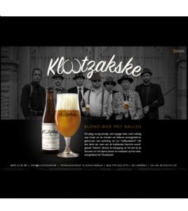 Klootzakske Blond bier met ballen - Xtrema Reclamebureau - Webdesign Harelbeke - Websites Kortrijk - Xtrema Webdesign - West-Vlaanderen