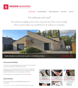 Advocaat Hooghe · Xtrema Reclamebureau - Webdesign Harelbeke - Websites Kortrijk - Xtrema Webdesign - West-Vlaanderen