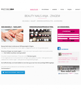 Anja Beauty Nails Zingem · Xtrema Reclamebureau - Webdesign Harelbeke - Websites Kortrijk - Xtrema Webdesign - West-Vlaanderen