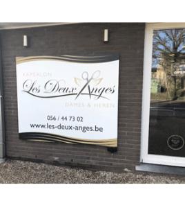 Kapsalon Les Deux Anges Heule · Xtrema Reclamebureau - Webdesign Harelbeke - Websites Kortrijk - Xtrema Webdesign - West-Vlaanderen